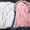 Куртка джинсовая женская зимняя с большим меховым капюшоном , фото 6