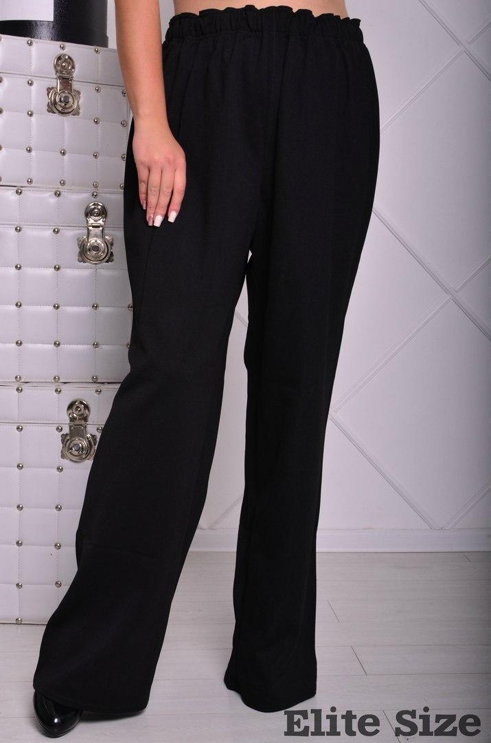 Женский свободные брюки в больших размерах на резинке 6uk219