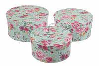ОПТ/Розница Круглые подарочные коробки с розами (Цена за комплект 3 шт)