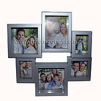 Коллаж для фото (рамки для фотографий на стену) металл. 2/11х11,2/5х8,1/7х7см.