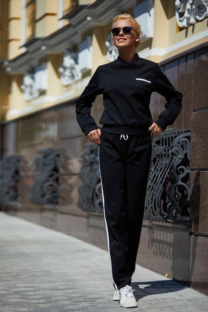 Женский спортивный костюм из трикотажа в расцветках 59rt135