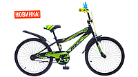 """Велосипед SCD 20"""" FORMULA RACE (чёрно-зелёный)"""