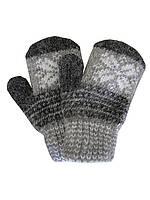 Детские шерстяные перчатки №30 (серые)