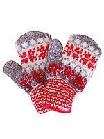 Детские шерстяные перчатки №30 (красные)