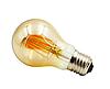 Светодиодная прозрачная лампочка 8Вт Е27 А60 2350K  Biom FL-411 с янтарным напылением