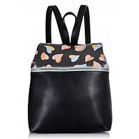 Женский рюкзак из экокожи с принтом и молнией 7174