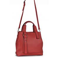 Женская сумка из экокожи в красном цвете 7175