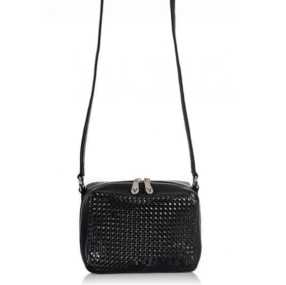 Купить Чёрную сумку женскую маленькую из экокожи 7179 недорого в ... d078a197afb