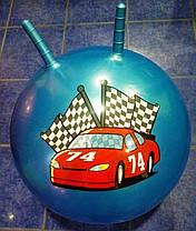 Мяч с рожками для фитнеса d 55 см, фото 2