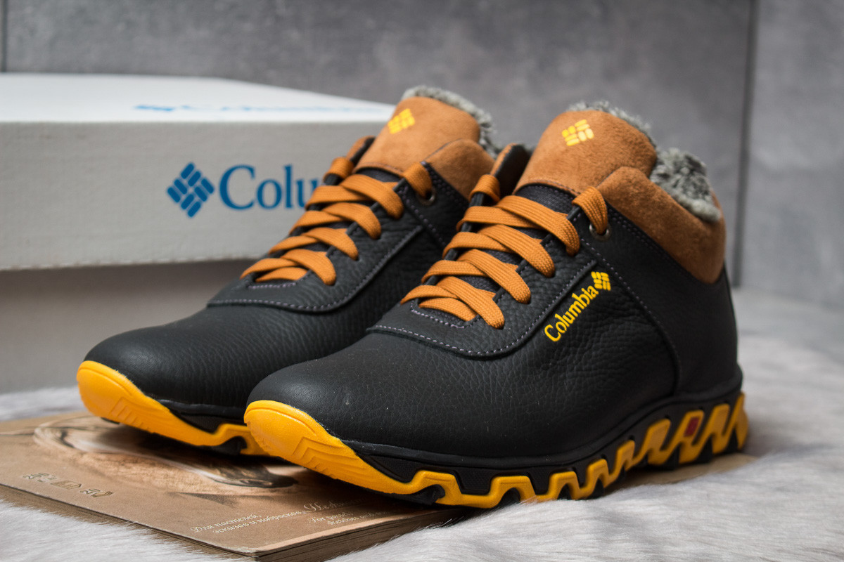 Зимние ботинки на меху Columbia Track II, черные (30692),  [  40 41 42 43 44 45  ]
