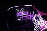 Подсветка салона автомобиля из светящегося провода - 1м