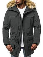 Парка мужская ZIMBER черная зимняя. (XXL Только) Куртка удлиненная теплая