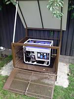 конструкция, для более удобного обслуживания электростанции, имеет 2 варианта доступа - сверху и фронтально
