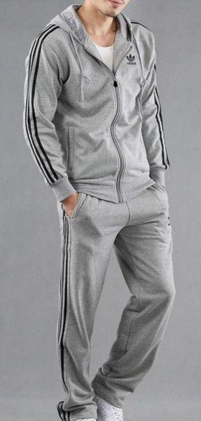 Серый спортивный костюм мужской Adidas - Интернет-магазин Sport-Style в  Харькове ff5a27b7994