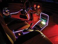 Подсветка торпеды автомобиля Холодным неом любого цвета тюнинг автомобиля Днепропетровск