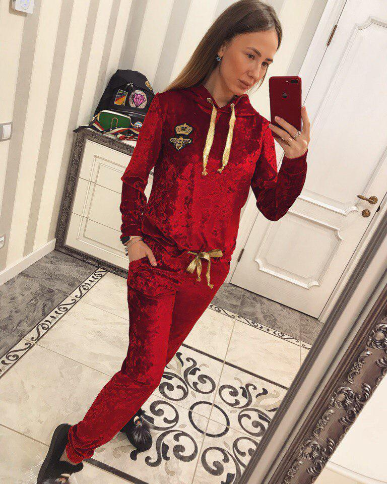 Спортивный костюм из мраморного бархата в расцветках 33rt182