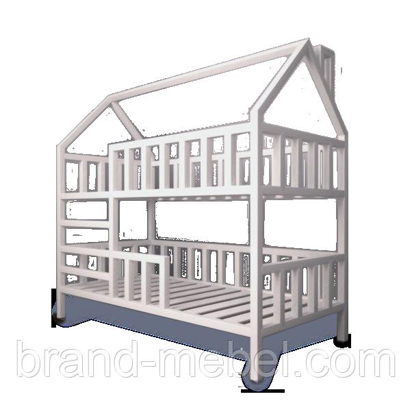 Детская кроватка Домик двухэтажная +