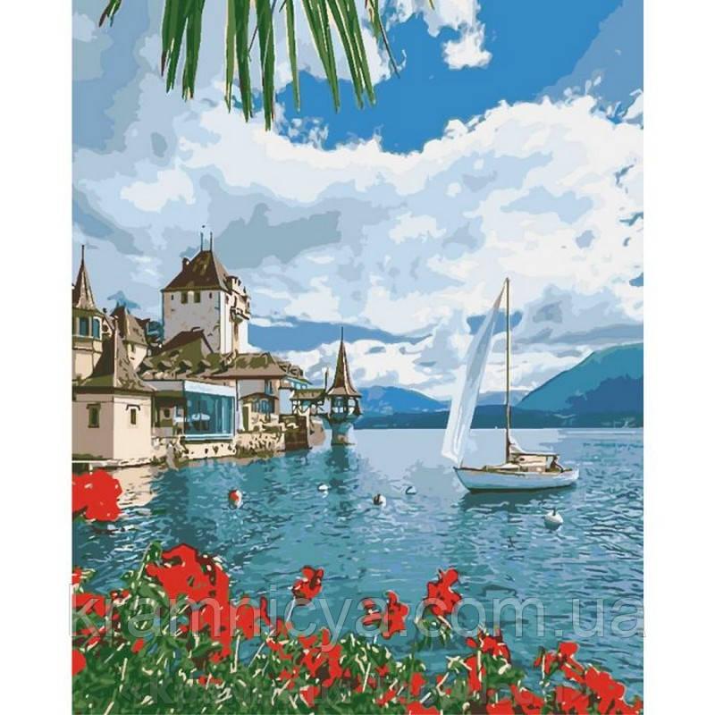 Картина по номерам 40х50 Утро в Швейцарии (КНО2734)