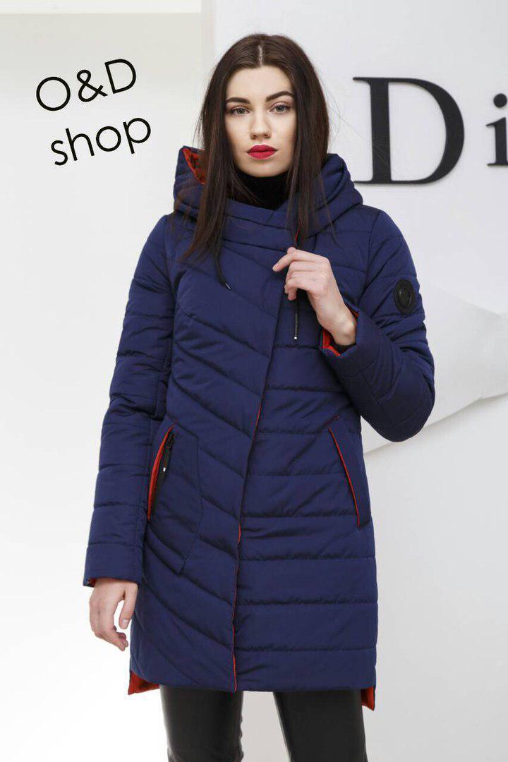 Женская куртка удлиненная с капюшоном в расцветках 27ki75