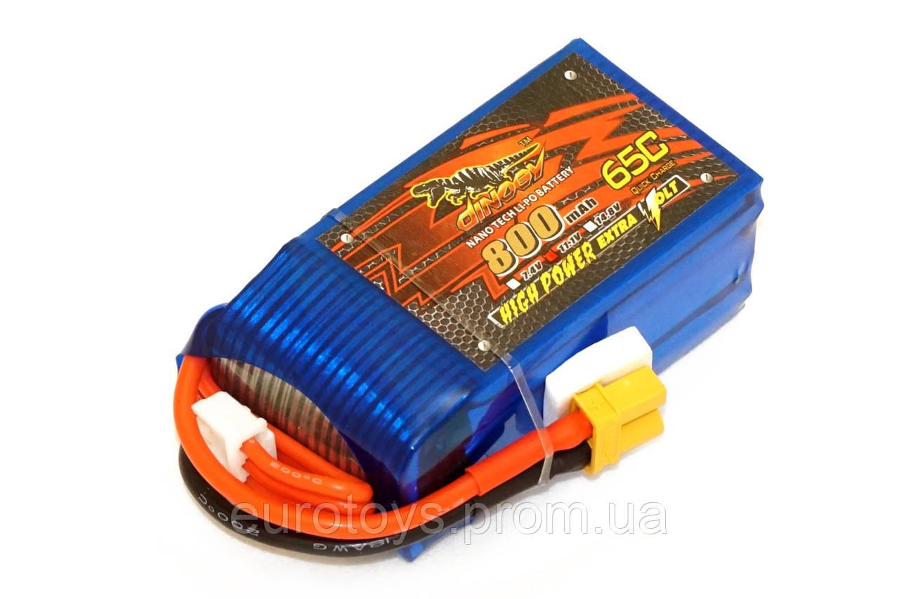 Аккумулятор для радиоуправляемой модели Dinogy Li-Pol 800 мАч 11.1 В 56x30x23,5 мм XT30 65C