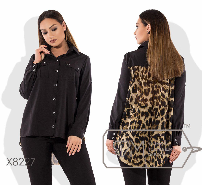 Женская принтованная блуза в больших размерах fmx8227