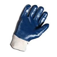 Перчатки нитриловые синие полный облив