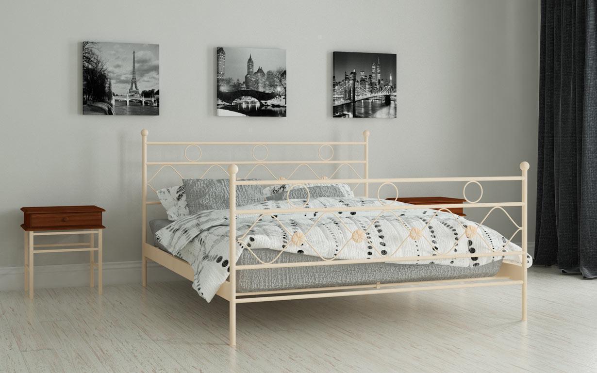 Металлическая кровать Бриана 120х190 см. Мадера