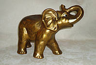 Керамический большой слон золотой