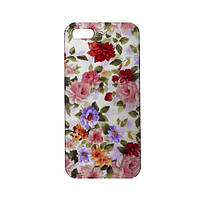 Накладка для iPhone 5/5S/SE пластик Endorphone цветочные обои глянец (820c-18-183)