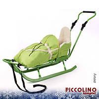 Санки+ручка+конверт Adbor Piccolino салатовый