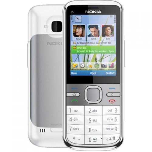Мобильный телефон Nokia C5 (оригинал) White 1050 мАч