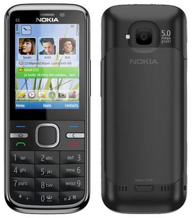 Мобильный телефон Nokia C5 (оригинал) Black 1050 мАч