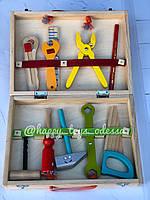 Чемодан с деревянными игрушечными инструментами , фото 1