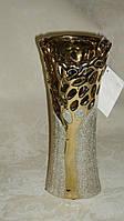 Ваза керамическая золотистая с гравировкой , фото 1