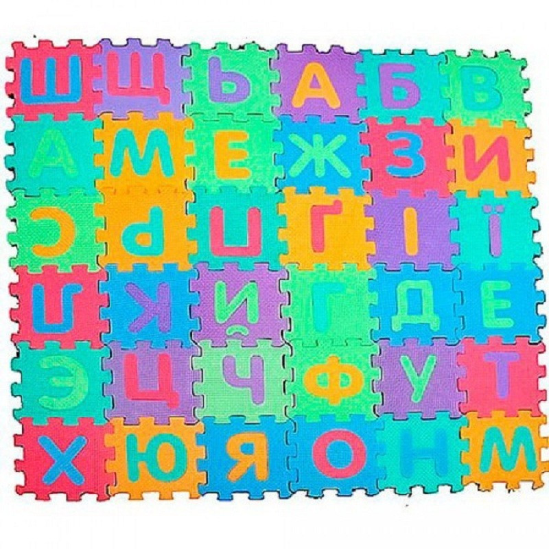 Развивающий коврик-пазлы 0379 Алфавит на украинском 36 шт