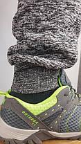 Брюки спортивные мужские зимние трикотажные под манжет с элементами вставок из плащёвки, фото 3