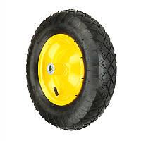 Колесо BudMonster пневмо 4,0х8 (артикул 01-006,01-007,01-005) желтое, о/d=16