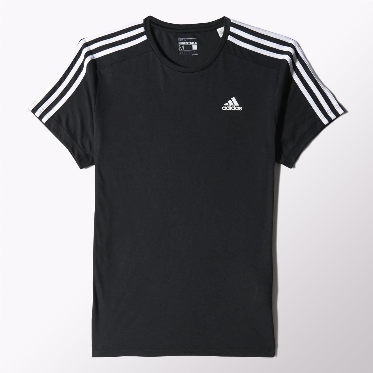 Мужская футболка Adidas Essentials 3-Stripes (Артикул: S88108)