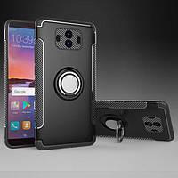 Чехол Huawei Mate 10, бампер с магнитной пластиной и подставкой, цвет чёрный