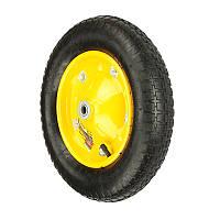 Колесо BudMonster пневмо 3,25х8 из дод. креплениями на диске (артикул 01-030/1) желтое, о/d=16