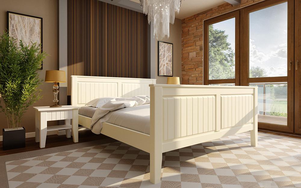 Деревянная кровать Глория (высокое изножье) 90х190 см. ЧДК