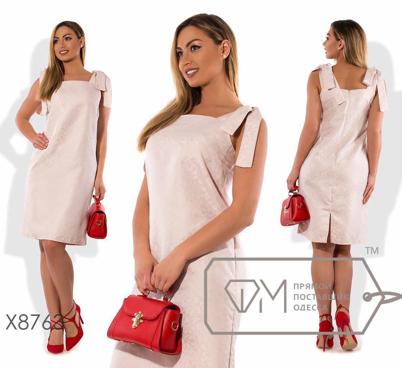 Платье прямого кроя из жаккарда в больших размерах fmx8763