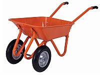 Тачка Тройка ТМ Канат толщ метала 0.6 мм колесо двойное 3,35x7 с втулкой