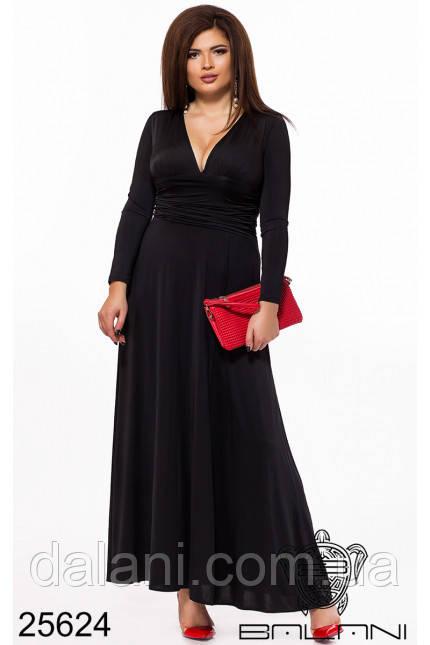 d5308164827 Платье Вечернее в Пол Чёрное с Вырезом на Спине Большой Размер — в ...