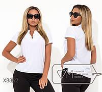 ad62df964fa Женская белая блуза большого размера с коротким рукавом fmx8862