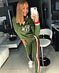 Стрейчевый женский спортивный костюм с лампасами 18rt404, фото 2