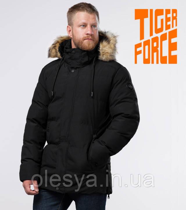 Tiger Force 78270 | Зимняя мужская куртка черная