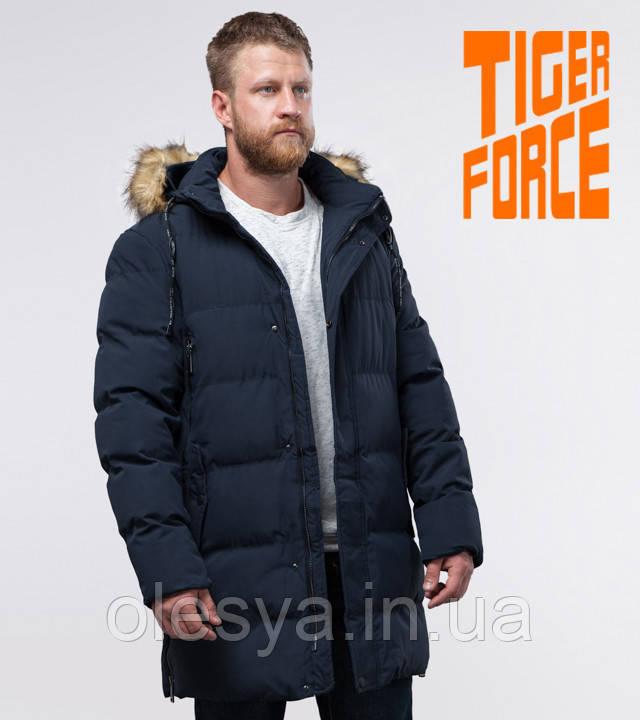 Tiger Force 76420   Куртка с опушкой темно-синяя