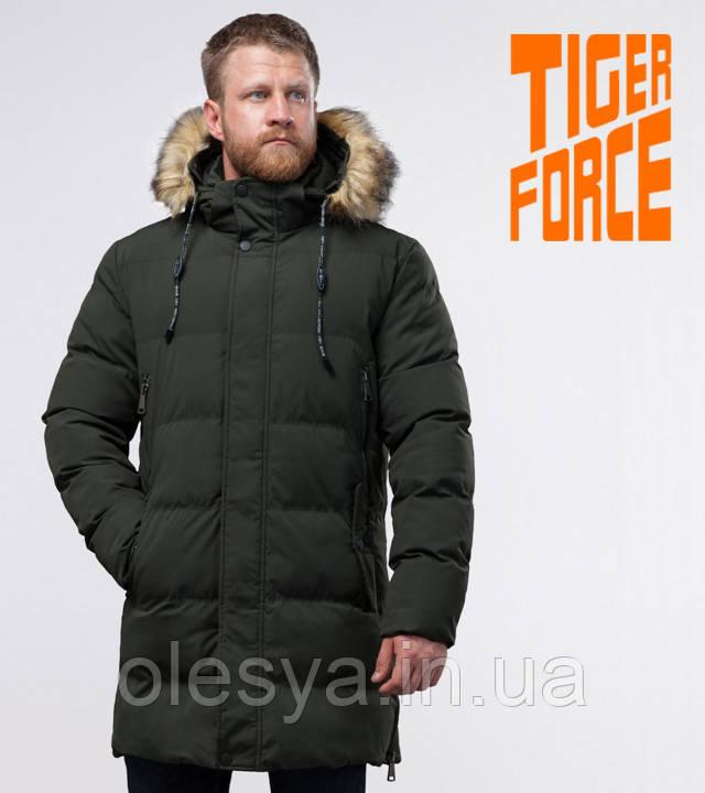 Tiger Force 76420   Мужская куртка теплая темно-зеленая