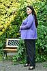 Женский брючный костюм с жакетом в больших размерах 10uk984, фото 5
